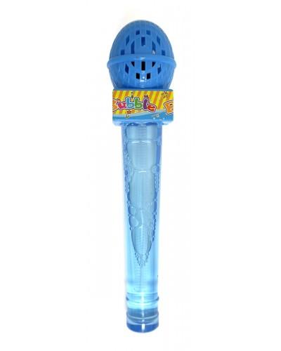 """Мыльные пузыри 1841 """"Микрофон"""", 4 цвета, в пакете"""