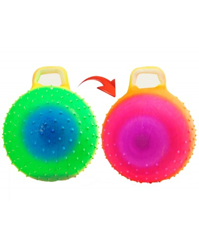 Мяч для фитнеса ND103 цвет радуга, гири с шипами  45см 350г
