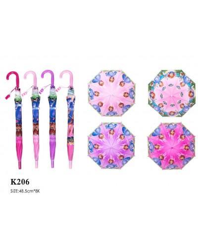 """Зонт """"S"""" K206  4 вида, со свистком, в пакете 49 см"""
