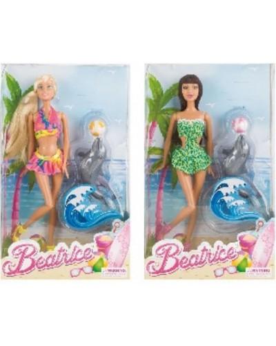 Кукла 3213-2  2 вида, шарнир колено, с дельфином, в кор.
