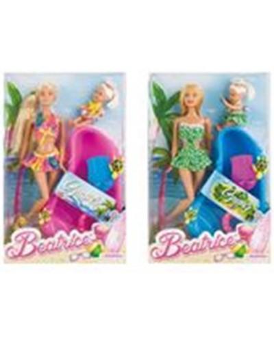 Кукла 3213-3 2 вида, шарнир колено, с куколкой, бассейн, аксесс, в кор.
