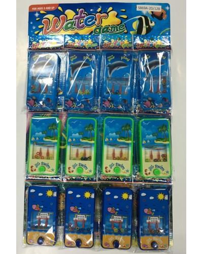 Водная игра в колечки 5869A-2D/12B  12 шт на листе, цена за упаковку