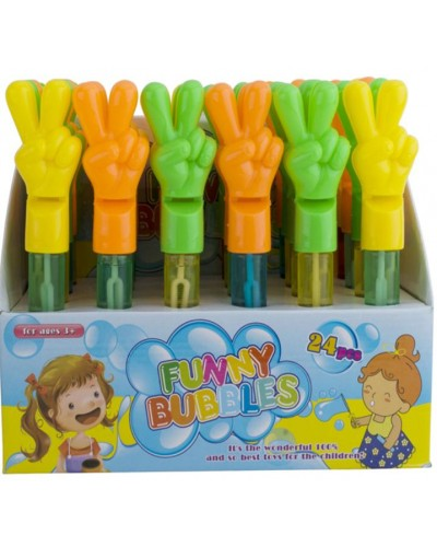 Мыльные пузыри 830 (24шт) 3 цвета, в диспл.боксе