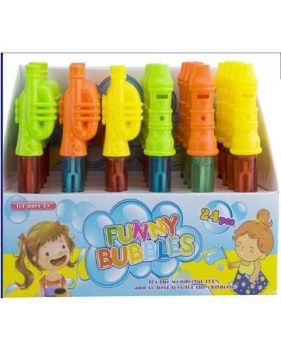 Мыльные пузыри 835 (24шт) 3 цвета, в диспл.боксе 19,5*27*14см