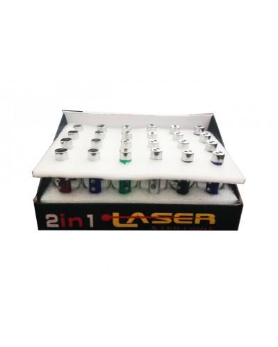 Фонарик лазерный GM1710163 (24шт) брелок, лазер-ЛЭД, размер 6см, в боксе 16*10,5*7см