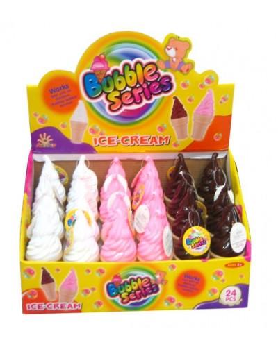 Мыльные пузыри 9028C (24шт) мороженое, 3 вида,в боксе 14,5*34*23см