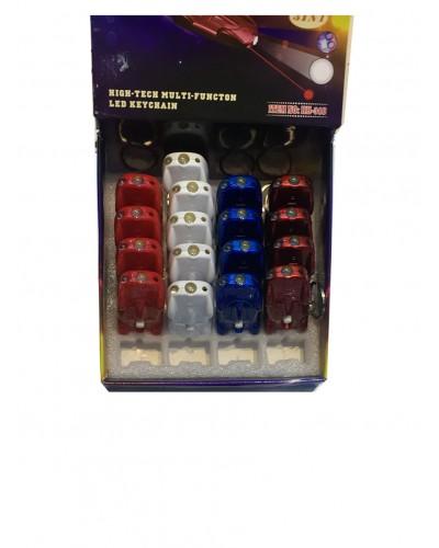 Фонарик лазерный GM1710162 брелок, лазер-свет-ЛЭД, размер 7см, в боксе 14*14*8см