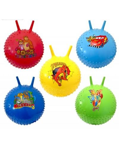 Мяч для фитнеса ND004 роги, мультгерои 5 видов, 5 цветов 55 см 580г