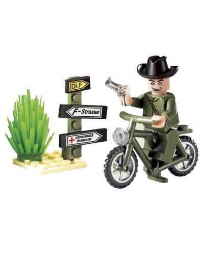 """Конструктор """"Brick"""" 827 """"Мотоцикл"""" 20 дет., 6+ лет, в собр. кор. 7*4,5*9,5 см"""