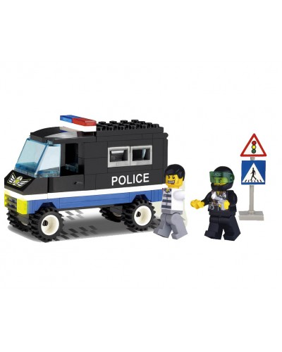 "Конструктор ""Brick"" 126 ""Полиция"" 84 дет., машина, 2 человечка, от 6-ти лет, в кор. 19"