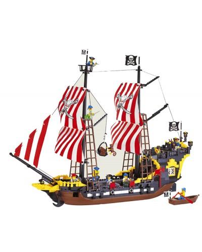 """Конструктор """"Brick"""" 308 """"Пиратский корабль"""" 870 дет. , в кор. 57*35*7см"""