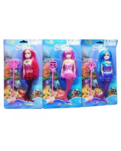 Кукла  7001  3 вида микс, на планшетке 21*15*11,6 см