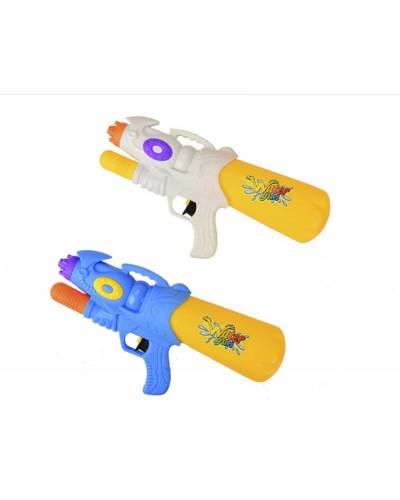 Водный пистолет 1101-1  2 цвета, с насосом 33 см в пакете 19*43.5см