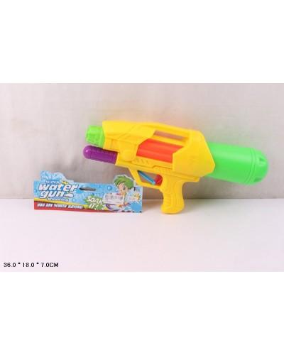 Водный пистолет 4388 с насосом, в пакете 36*18*7см