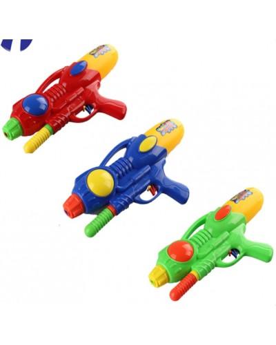Водный пистолет 529  с насосом, в пакете 35см