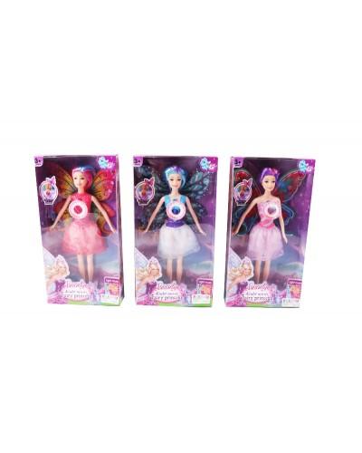 """Кукла """"Фея"""" 005-22A 3 вида, с крылышками, в кор.33*17*5см"""