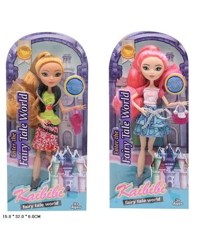 """Кукла """"EAH"""" BLD124 2 вида,  шарнирная, с сумочкой, в кор. 16*6*32см"""