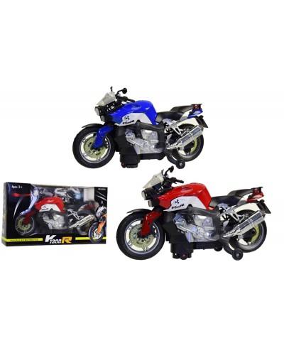 Мотоцикл батар. 2033A 2 вида, в коробке 31*11*18см