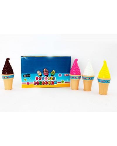 Мыльные пузыри 928A (12шт) мороженое, 4 вида, в боксе 14,5*23*17см