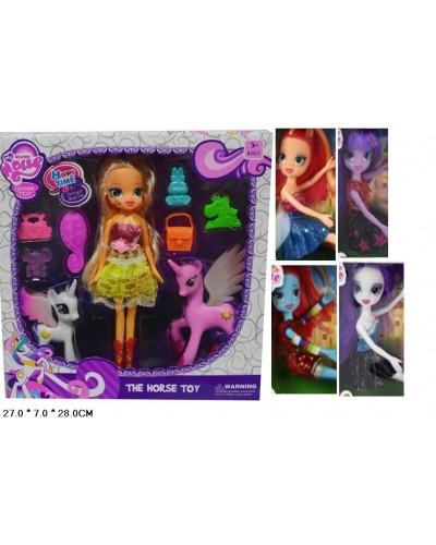 Кукла  LJF14 , в наборе с пони и аксесс., 5 видов микс, в кор 28*27*7 см