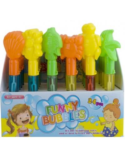 Мыльные пузыри 839 (24шт) 3 цвета, в диспл.боксе
