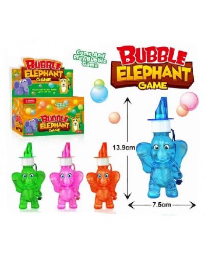 Мыльные пузыри SSP826018 (24шт)слоники, 4 цвета, в боксе