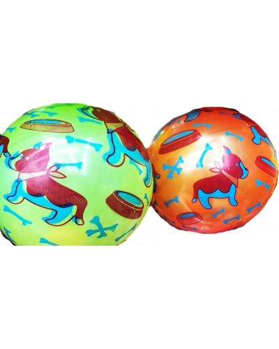 """Мяч резиновый CL12-16 """"Щенок"""" 9"""", 60грамм, 4 цвета"""