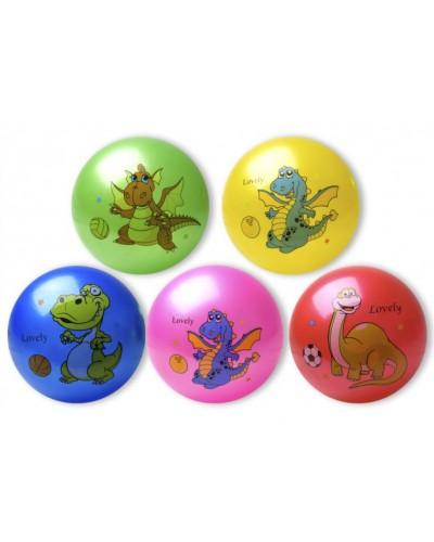 """Мяч резиновый CL12-03 """"Дракон"""" 9"""", 60грамм, 3 цвета"""