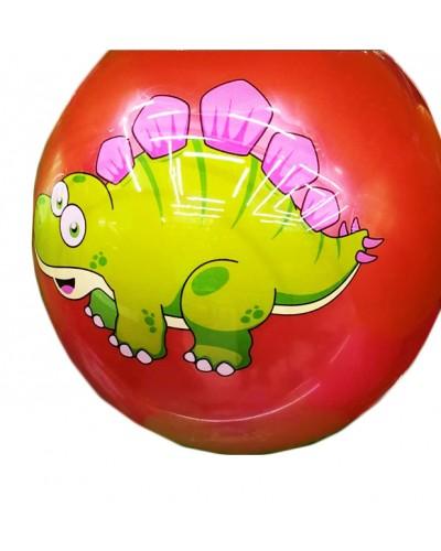 """Мяч резиновый CL12-08 """"Динозаврик"""" 9"""", 60грамм  5 цветов"""