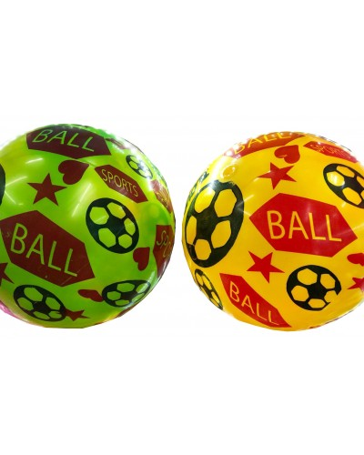 """Мяч резиновый CL12-027 """"Футбол"""" ассорти, 9"""" 60g"""