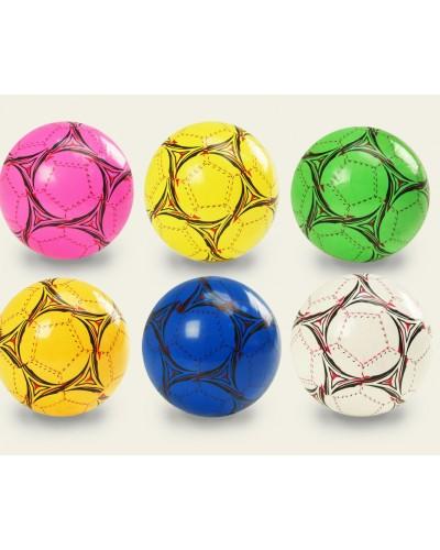 """Мяч резин. E03122  5цветов, 9"""" 80g.в пакете"""