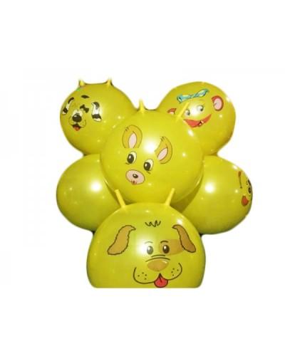 """Мяч для фитнеса CL12-007 """"Животные"""" рожки  MIX, 45 см 350 грамм"""