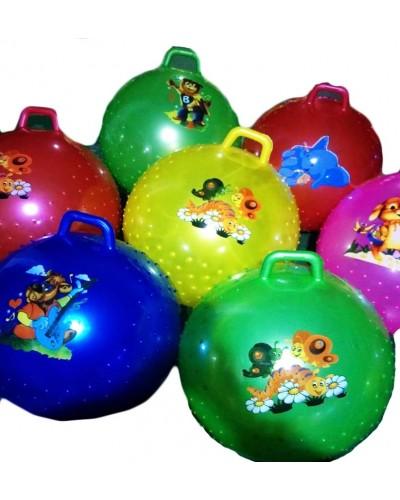 Мяч для фитнеса CL12-009  гири мультгерои MIX, 45 сm 380 грамм