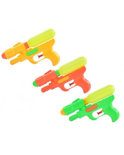 Водный пистолет M-35 3 цвета, 17см, в пакете 14*25см