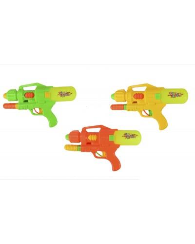 Водный пистолет 21801-1 3 цвета, с насосом, в пакете 22*36см