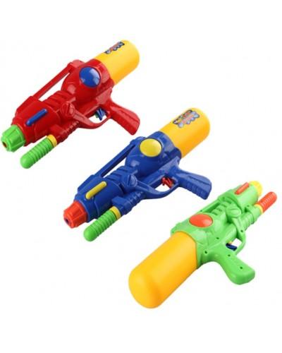 Водный пистолет 528 с насосом, в пакете 35см