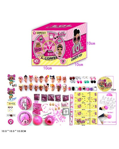 Кукла  типа L 24301 Confetti Pop, 1штуп функц: пьет, писает,меняет цвет,  в кор. 10*10*10см