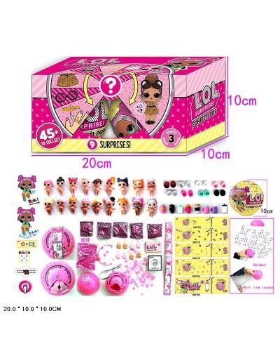Кукла Л Confetti Pop, 2штуп функц: пьет, писает, меняет цвет, в кор. 20*10*10см