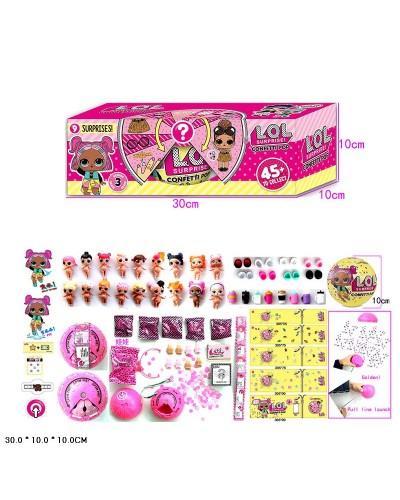 Кукла Л 24303 Confetti Pop, 3штуп функц: пьет, писает, меняет цвет,  в кор. 30*10*10см