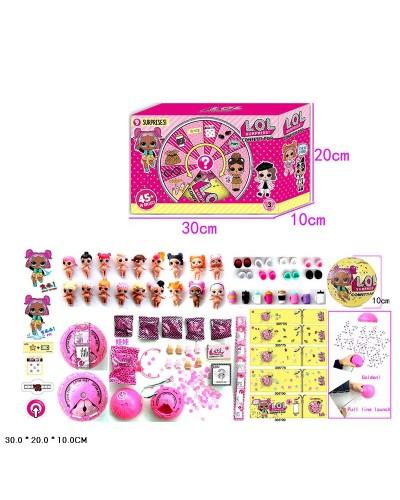 Кукла Л 24304 Confetti Pop, 6штуп функц: пьет, писает, меняет цвет,  в кор. 30*20*10см