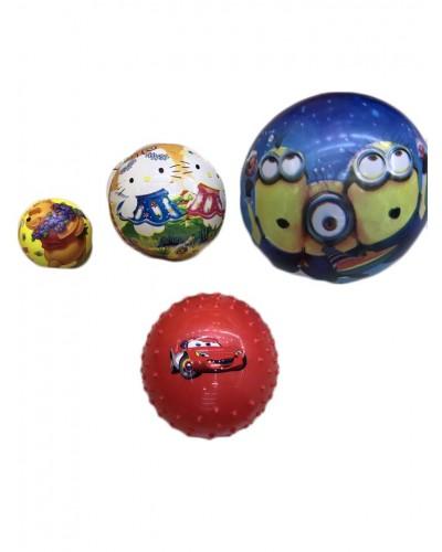 Мяч резиновый B24853  ассорти, 15см, 50грамм
