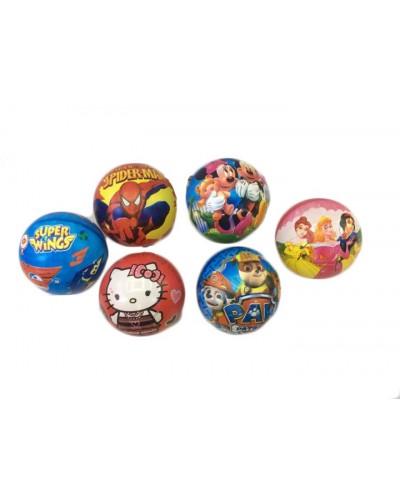 """Мяч резиновый C23696 мультгерои, в ассорти, 9"""",60грамм"""