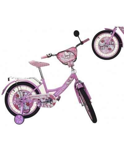 "Велосипед 2-х колес 12"" 181205  со звонком, зеркалом, без ручного тормоза"