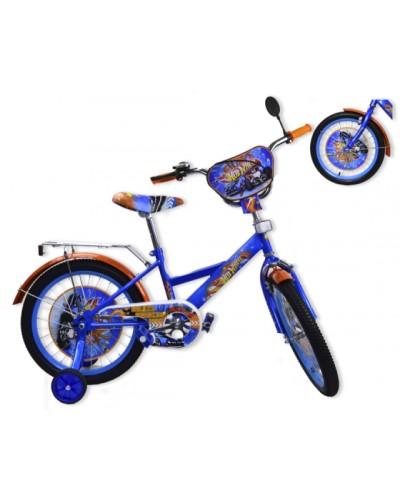 "Велосипед 2-х колес 12"" 181209 со звонком, зеркалом, без ручного тормоза"