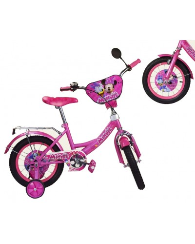 "Велосипед 2-х колес 12"" 181210  со звонком, зеркалом, без ручного тормоза"