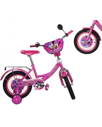 "Велосипед 2-х колес 12"" 181211 со звонком, зеркалом, без ручного тормоза"