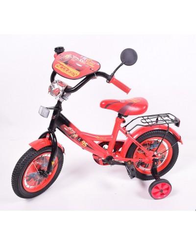 "Велосипед 2-х колес 12"" 181216 со звонком, зеркалом, без ручного тормоза"
