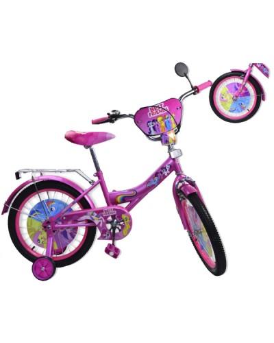 "Велосипед 2-х колес 12"" 181220 со звонком, зеркалом, без ручного тормоза"