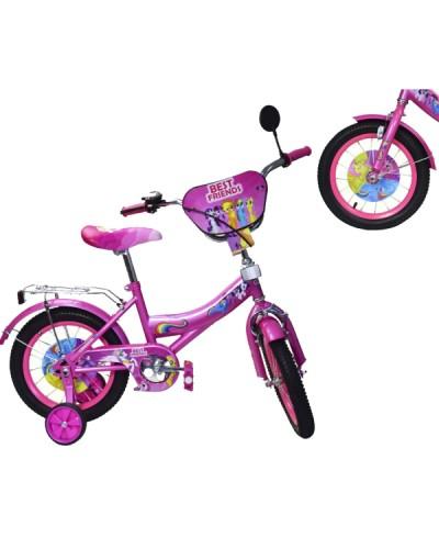 "Велосипед 2-х колес 12"" 181221 со звонком, зеркалом, без ручного тормоза"
