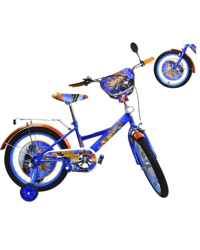 Велосипед 2-х колес 16' 181609 со звонком, зеркалом, руч.тормоз